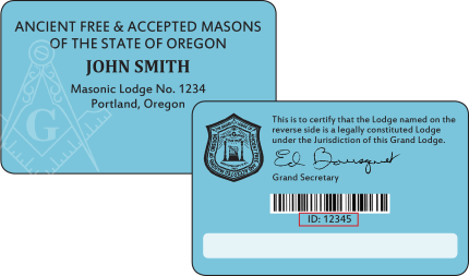 Oregon Masonic Of Grand Cards Lodge